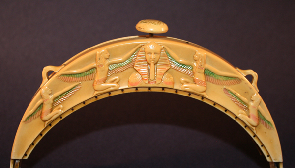King Tut and Isis celluloid purses