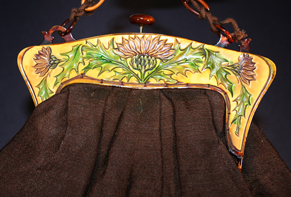 Thistle celluloid purses