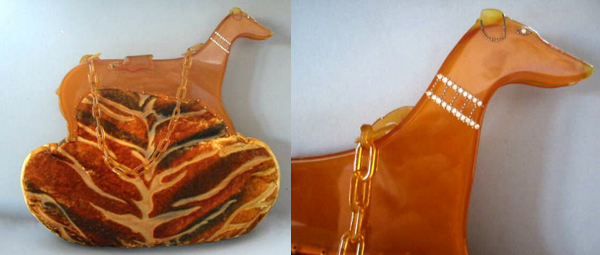 Greyhound celluloid purses