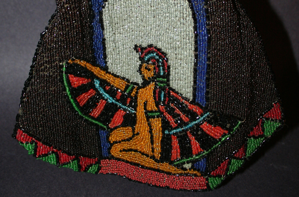 Beaded Isis celluloid purses