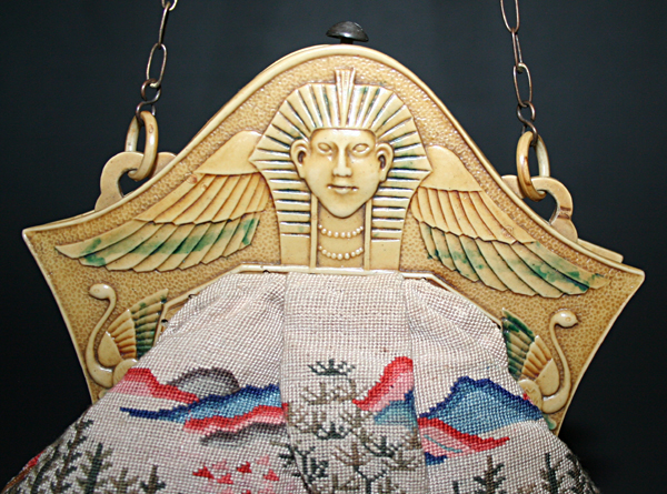 Egypt meets Asia celluloid purse