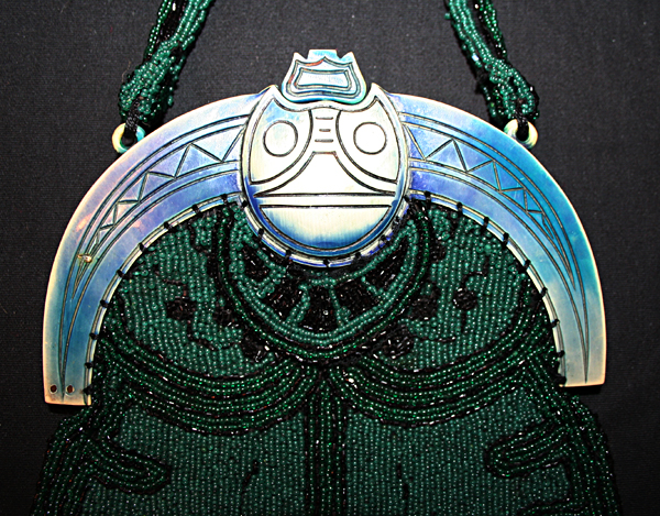 Sacred Scarab celluloid purses