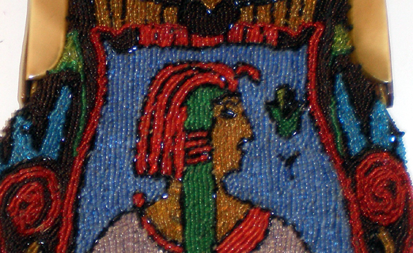 Egyptian beaded pharaoh celluloid purses