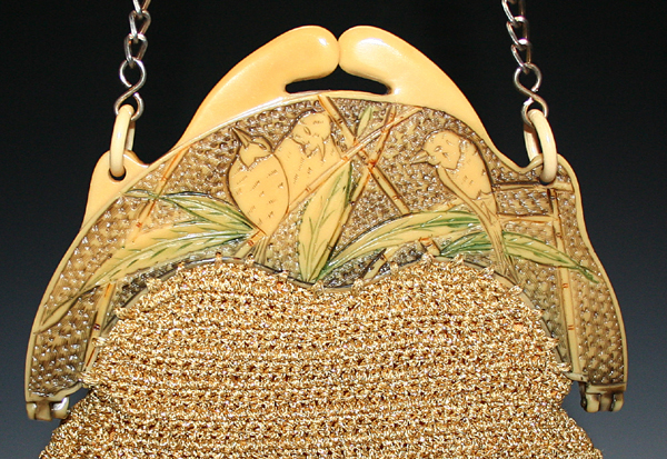 Birds and Bamboo celluloid purses